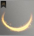 transparent light streal golden effect background vector image vector image