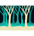 Tree silhouettes landscape in blue colors vector image vector image