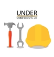 under construction design vector image vector image