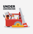 under construction equipment tools vector image vector image