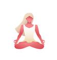 woman yoga lotus position or asana female figure vector image