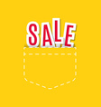 Sale Text Made Modern Trendy Design Template vector image