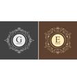 Elegant monogram design template vector image