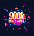 800k followers celebration in social media vector image vector image