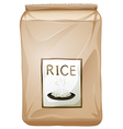 A packet of rice vector image vector image