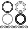 a set black circular pattern stencil vector image
