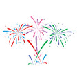 abstract anniversary bursting fireworks vector image vector image