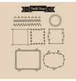 Abstract vintage frame in Doodle vector image vector image