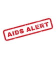 AIDS Alert Text Rubber Stamp vector image vector image
