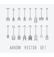 arrow set two vector image vector image