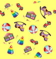 baby toys pattern seamless background vector image vector image
