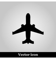 Black plane modern web icon on grey background vector image