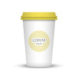 Blank coffee cup to represent your desing vector image vector image