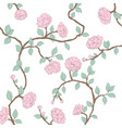 blossoming roses on a light background vector image vector image