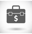 Briefcase flat single icon vector image vector image