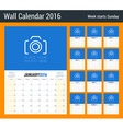 Calendar Planner for 2016 Year 12 Pages Design vector image