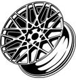 car wheel 8 vector image vector image
