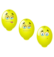 Cartoon Lemon Fruit Set 1 vector image