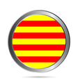 Catalonia flag button vector image vector image
