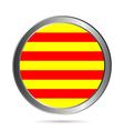 Catalonia flag button vector image