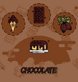 chocolate flat concept icons vector image