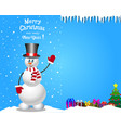christmas and new year card with space for text vector image