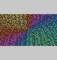 circles lines pattern bright gradient broken vector image vector image