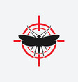 clothes moth icon red target vector image vector image