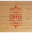 coffee carved artwork vector image