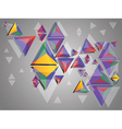 Colorful 3d Triangles2 vector image vector image