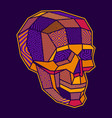 coloured a lowpoly geometric skull vector image