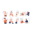 dating app using set meeting vector image