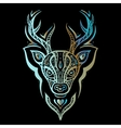 Deer head Polynesian tattoo style vector image