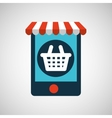 digital e-commerce basket market buy graphic vector image vector image