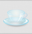 empty cup and saucer isolated on transparent vector image vector image