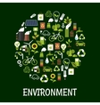 Environmental ecology friendly poster vector image