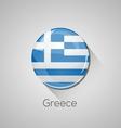 European flags set - Greece vector image