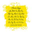 full set handwritten font capital letters vector image vector image