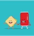 funny sandwich cola vector image vector image