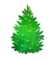 Green silhouette of Christmas tree vector image vector image