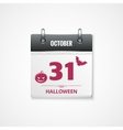 halloween calendar background vector image