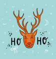 hand drawn deer funny vector image