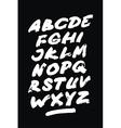 Hand drawn grunge font Detailed alphabet vector image vector image