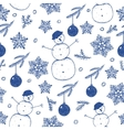 hand drawn seamless Christmas winter vector image vector image