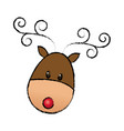 happy cartoon christmas reindeer animal cartoon vector image vector image
