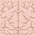 intelligence of the human brain vector image