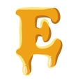 Letter E from honey icon vector image vector image