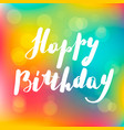 lettering inscription happy bithday vector image