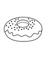 line dlicious and sweet donut bakery vector image