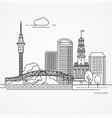 linear auckland new zealand vector image
